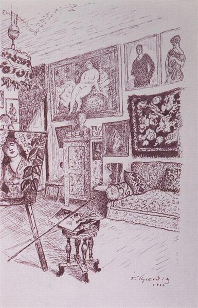 Workshop, 1926 - Boris Kustodiev