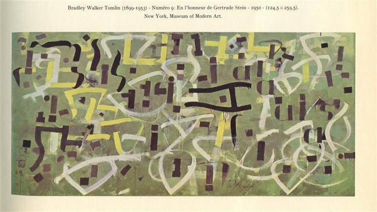 Number 9. In Praise of Gertrude Stein, 1950 - Bradley Walker Tomlin