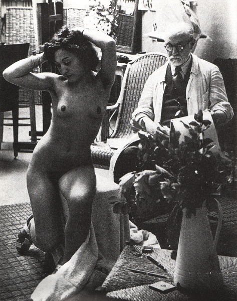 Matisse and his model in the studio, 1939