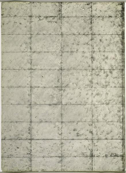 Untitled (Black and Cream Grid), 1964 - Brice Marden