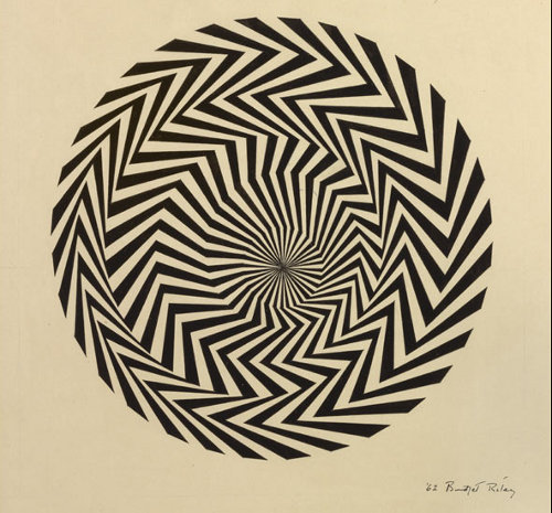 Blaze Study, 1962 - Bridget Riley