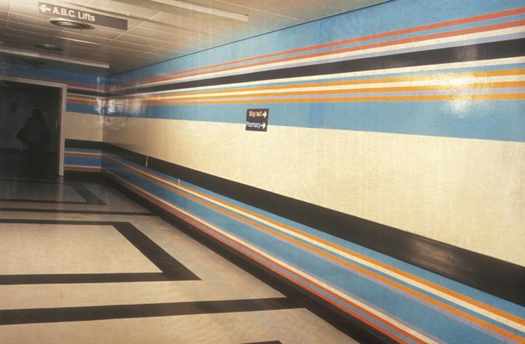 Royal Liverpool Hospital Installation, 1983 - Bridget Riley