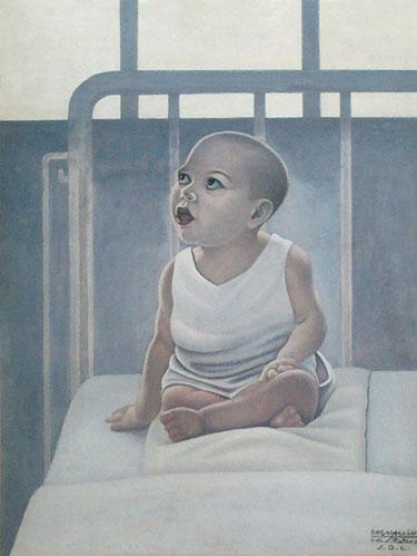 Bambino sul lettino, 1940 - Cagnaccio di San Pietro