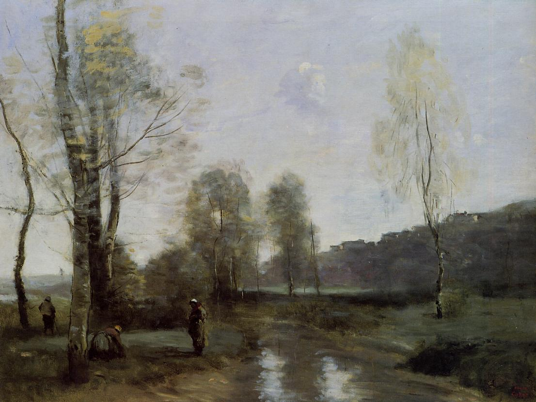 Canal in picardi camille corot for Camille corot