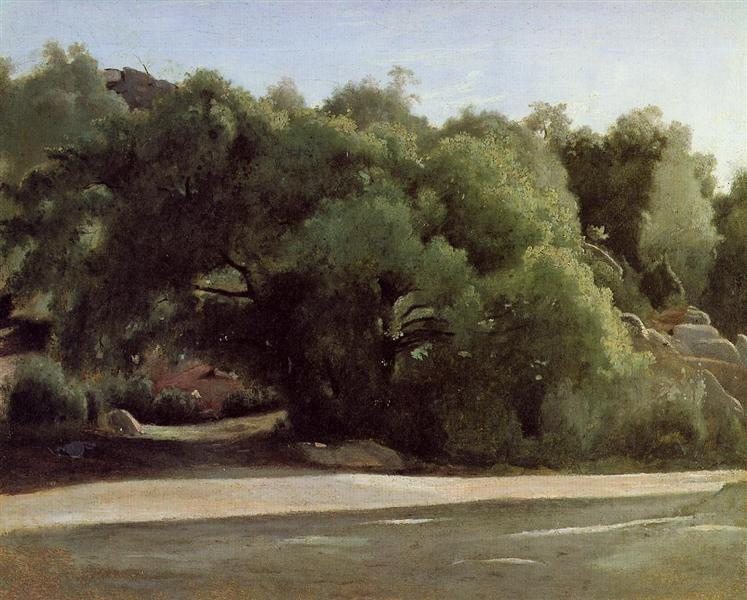 Fontainebleau, the Road to Chailly - Camille Corot