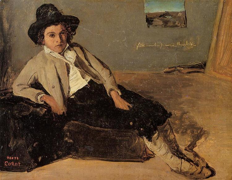 Italian Peasant Boy - Camille Corot