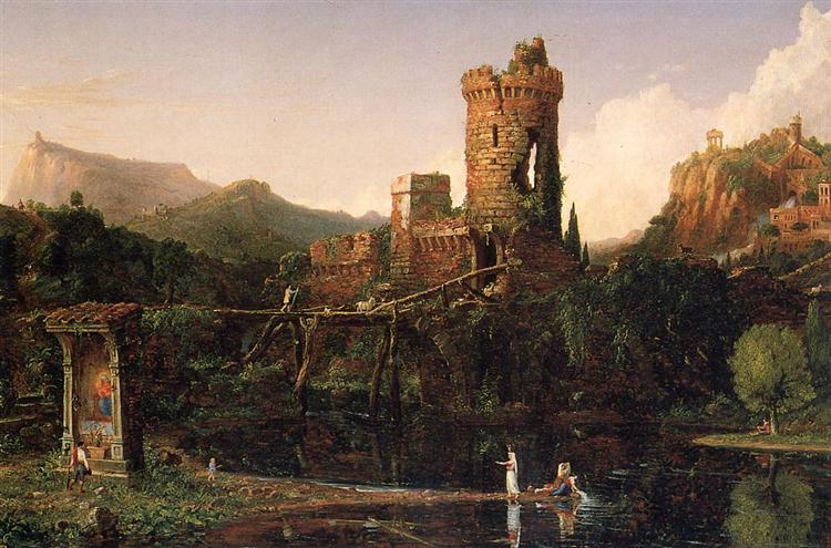 Landscape Composition Italian Scenery, 1831 - 1832 - Camille Corot
