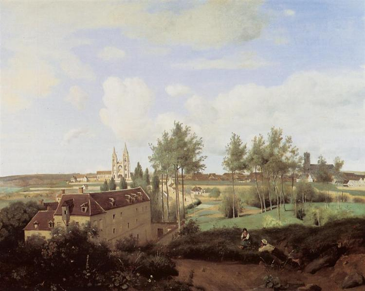 Soissons Seen from Mr. Henry s Factory, 1833 - Camille Corot