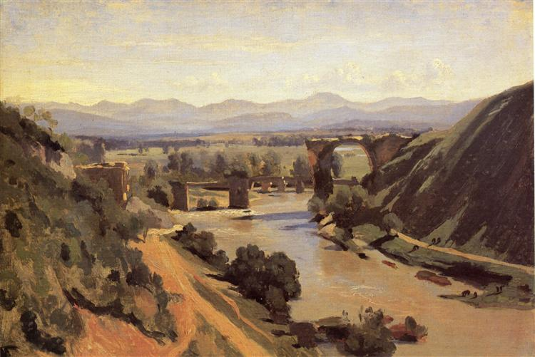 The Augustan Bridge at Narni - Camille Corot