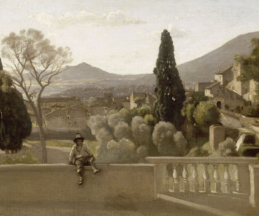 The gardens of the villa d 39 este tivoli camille corot for Jardin tivoli