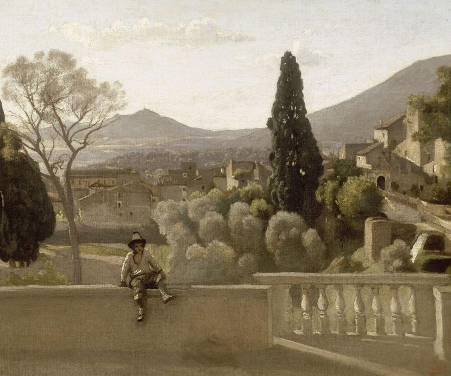 The gardens of the villa d 39 este tivoli 1843 camille for Jardin tivoli