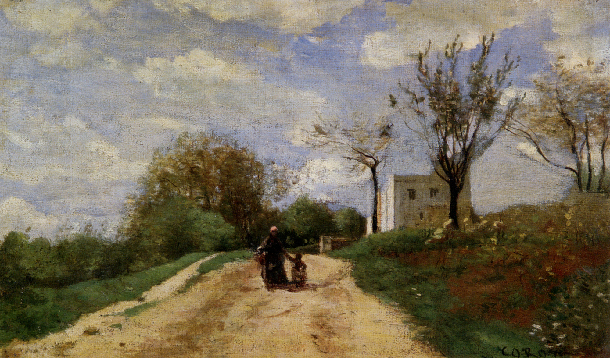 The path leading to the house 1854 camille corot for Camille corot