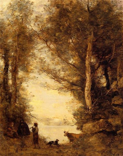 The Piper at Lake Albano, 1872 - Camille Corot