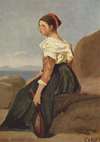 Woman with Mandolin, 1826 - 1828 - Camille Corot