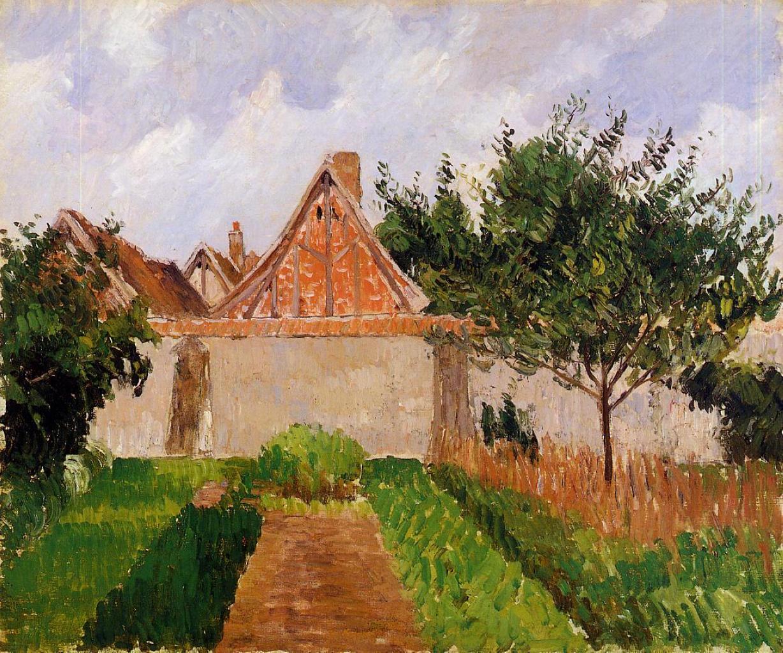 Garden At Eragny Study Camille Pissarro Encyclopedia Of Visual Arts