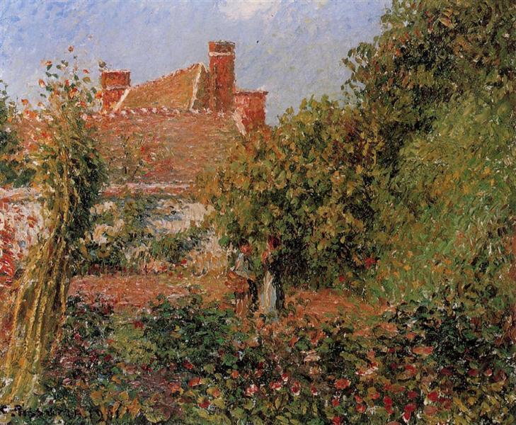 Kitchen Garden in Eragny, Afternoon, 1901 - Camille Pissarro