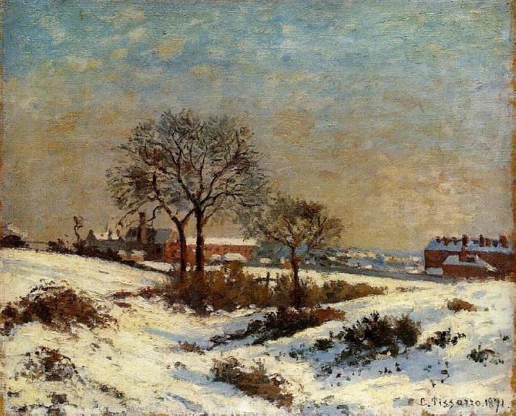 Landscape under Snow, Upper Norwood, 1871 - Camille Pissarro