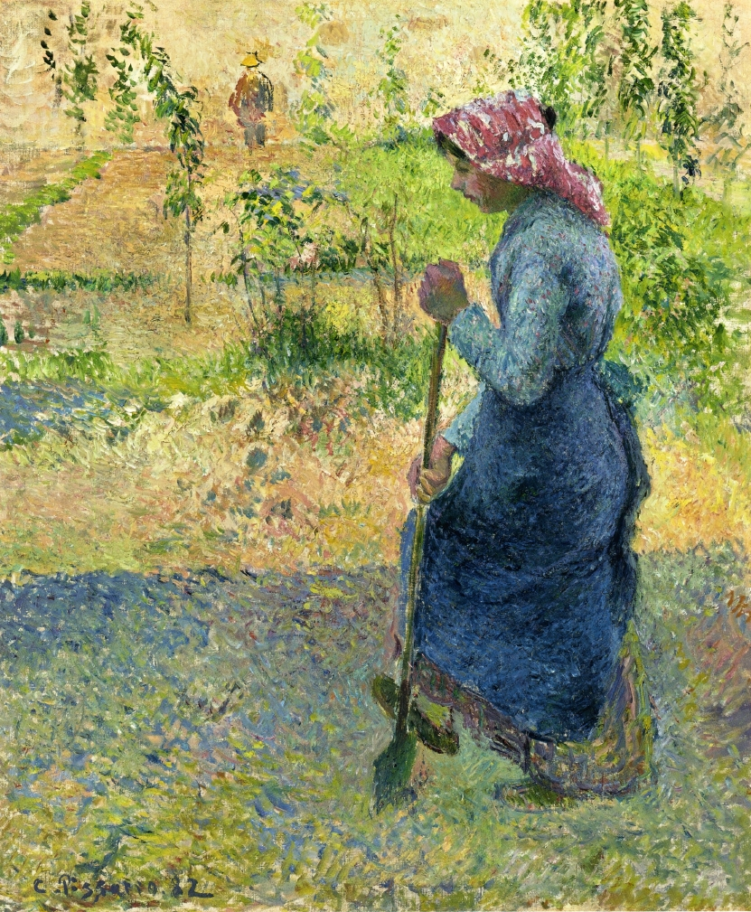paysanne couchant 1882 camille pissarro wikiartorg
