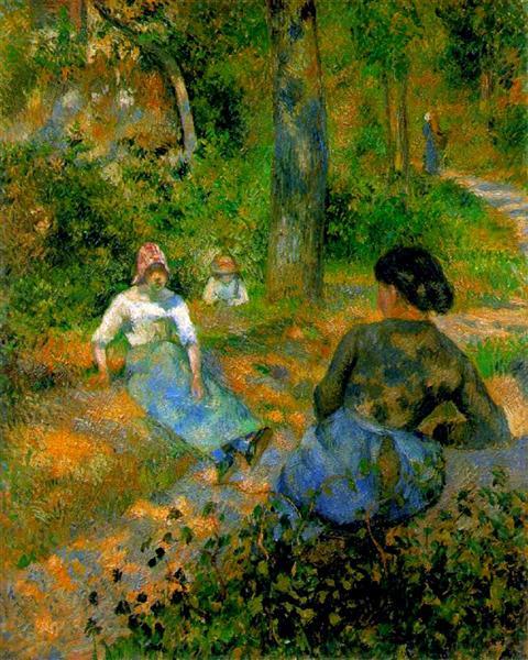 Peasants Resting, 1881 - Camille Pissarro