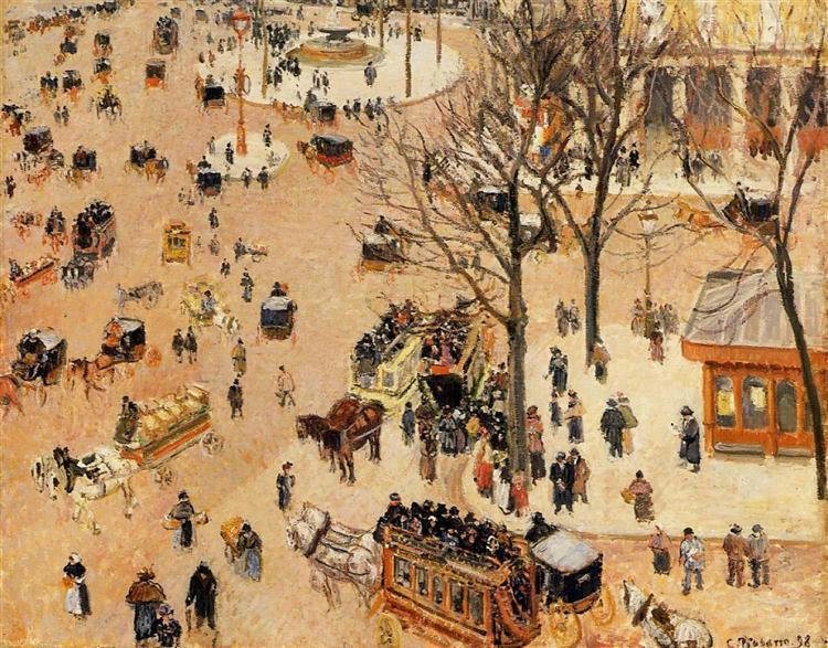Place du Theatre Francais, 1898 - Camille Pissarro