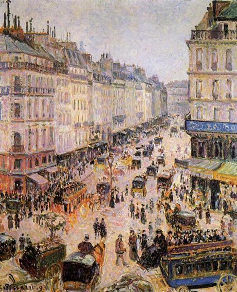 Rue Saint Lazare, 1893 - Camille Pissarro