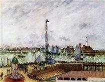 The pilot's jetty, Le Havre - Camille Pissarro