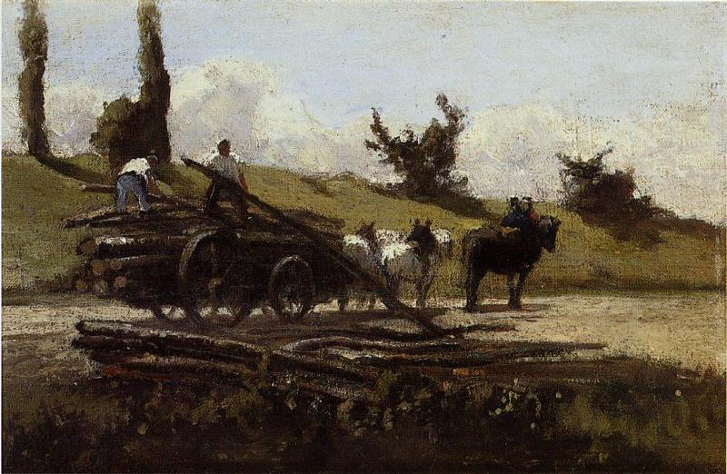 The Wood Cart, 1863