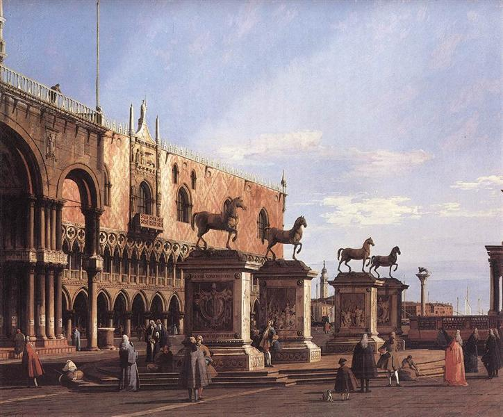 Capriccio: The Horses of San Marco in the Piazzetta, 1743 - Canaletto