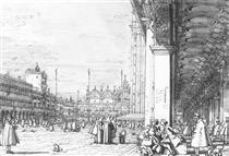 Piazza San Marco: guardando verso est dall'angolo sud-ovest - Canaletto