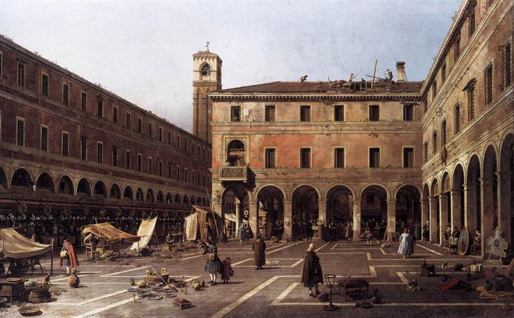 The Campo di Rialto - Giovanni Antonio Canal