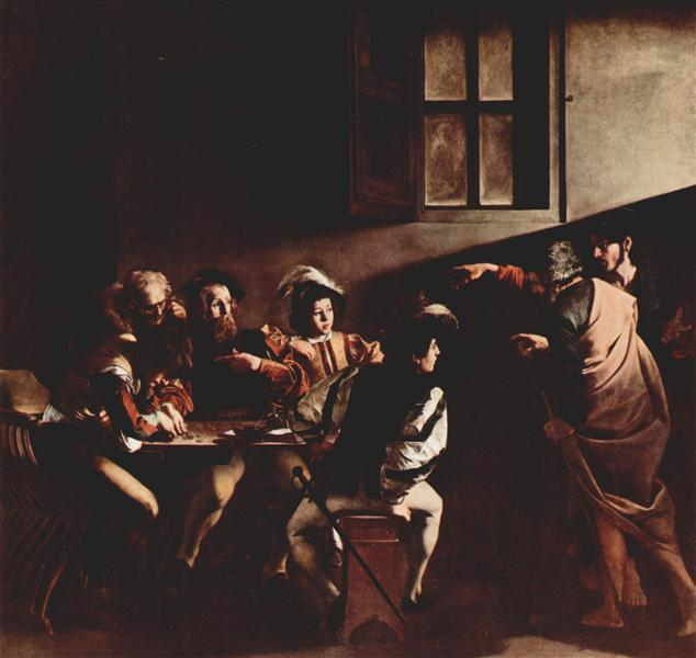 Calling of saint matthew caravaggio