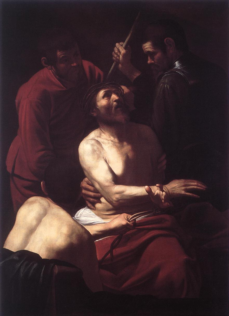 Crowning with Thorns - Caravaggio - WikiArt.org ...