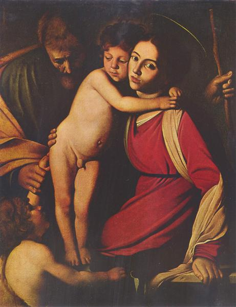 Holy Family with St. John the Baptist, c.1603 - Caravaggio
