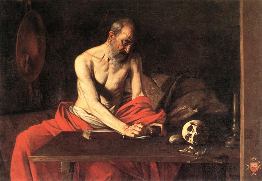 Young Sick Bacchus Saint Jerome Writing -...