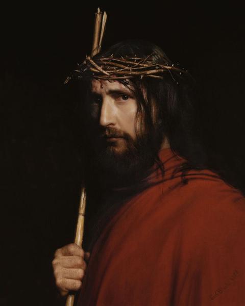 Christ with Thorns - Carl Heinrich Bloch