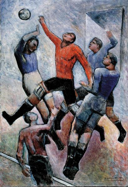 Partita di calcio, 1934 - Carlo Carra