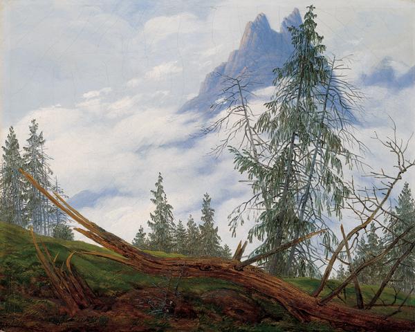 Mountain Peak with Drifting Clouds, 1835 - Caspar David Friedrich