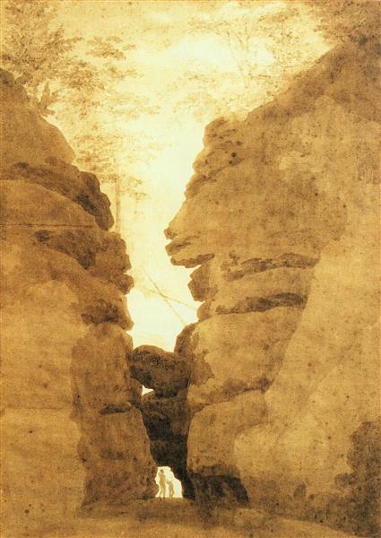 Rock arch in the Uttewalder Grund, c.1801 - Caspar David Friedrich