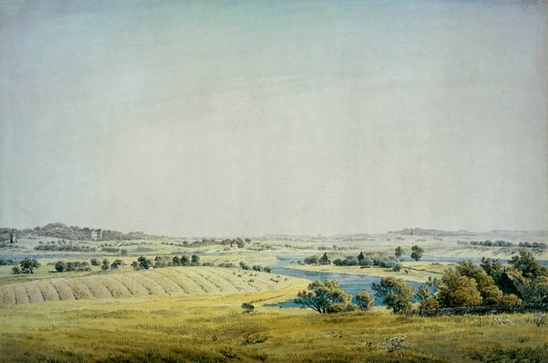 Rogen landscape in Putbus, 1824 - Caspar David Friedrich