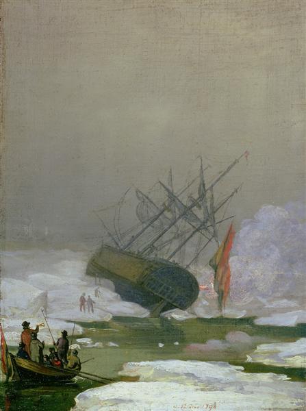 Ship in the Arctic Ocean, 1798 - Caspar David Friedrich