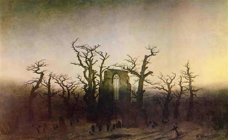 The Abbey in the Oakwood - Caspar David Friedrich