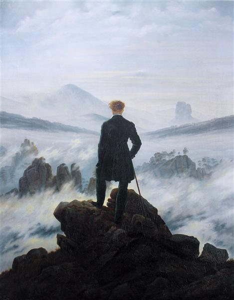 The wanderer above the sea of fog, 1818 - Caspar David Friedrich
