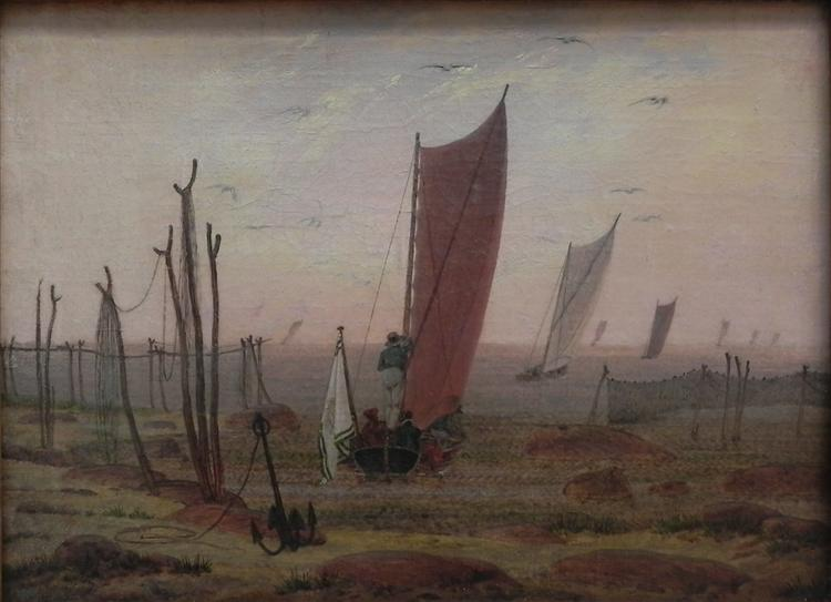 Ships sailing off in the morning, c.1816 - c.1817 - Caspar David Friedrich