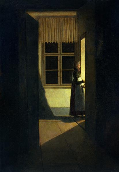 Woman with a candlestick, 1825 - Caspar David Friedrich