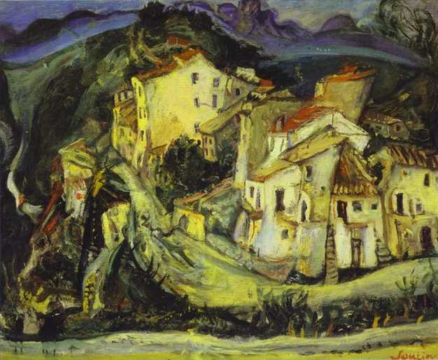 Houses of Cagnes, c.1924 - c.1925 - Chaim Soutine