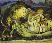 Houses of Cagnes - Chaim Soutine