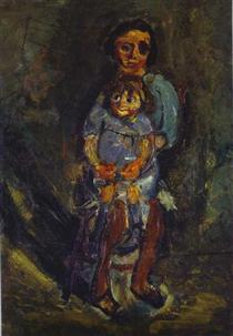 Mother and Child - Chaim Soutine