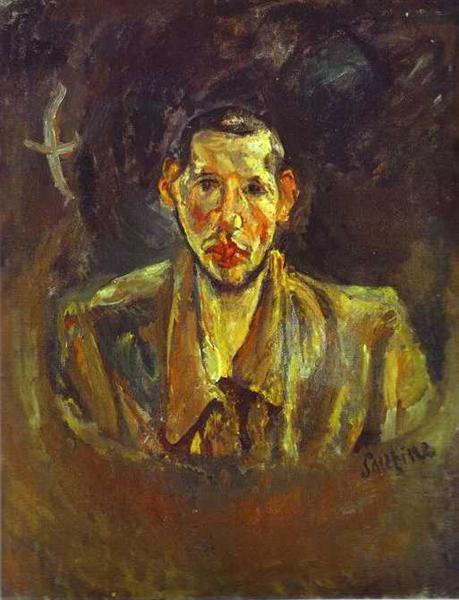 Self Portrait with Beard, c.1917 - Chaim Soutine