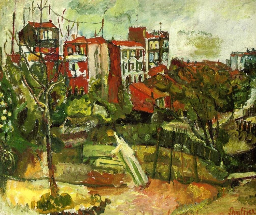 House Landscape Images: Suburban Landscape With Red Houses, C.1917