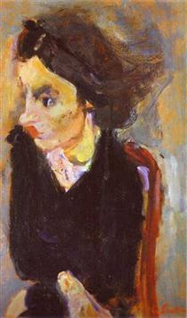 Woman in Profile (Portrait of Madame Tennent) - Chaim Soutine